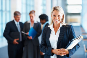 Business professionals happy with their careers opportunities