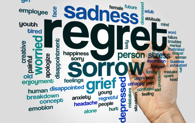 Problems caused by holding to regrets