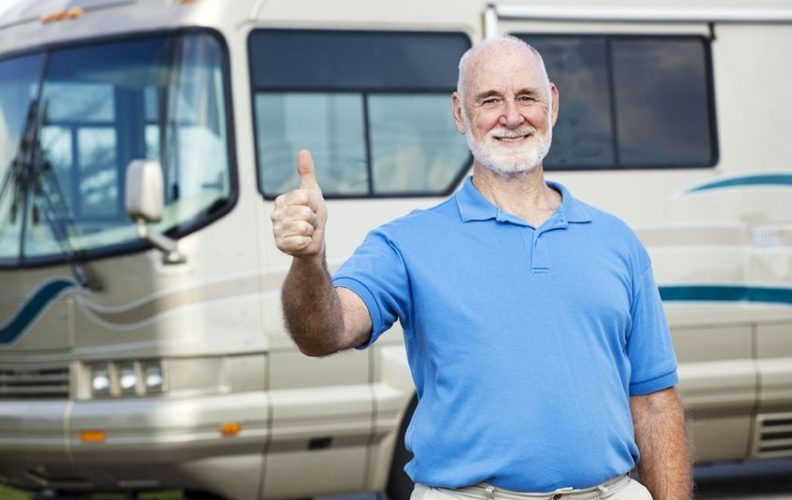 Man pleased with downsizing to a motorhome