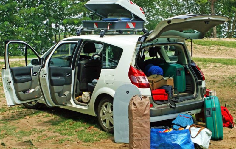 Loading a car for travel
