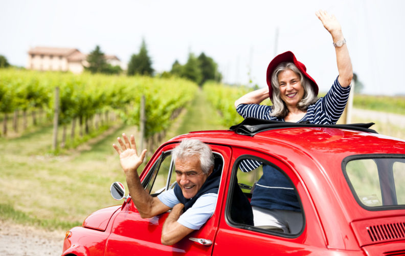 seniors who enjoy to travel by car