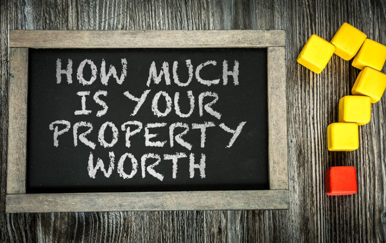 How much is your home worth written on a chalk board