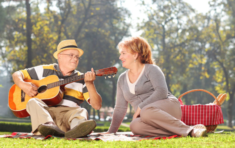 Senior couple enjoying outdoor activities