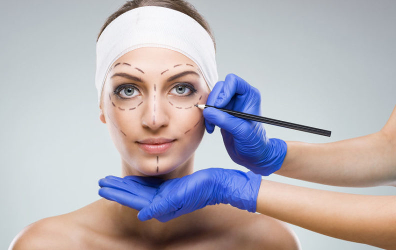 A woman prepares for plastic surgery